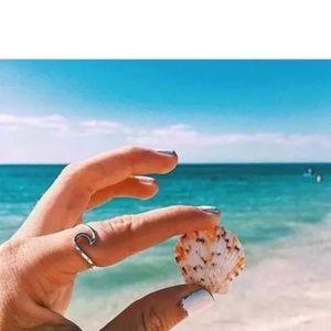 🦋🐳🐬 Beach Sufer Sea Wave ring.